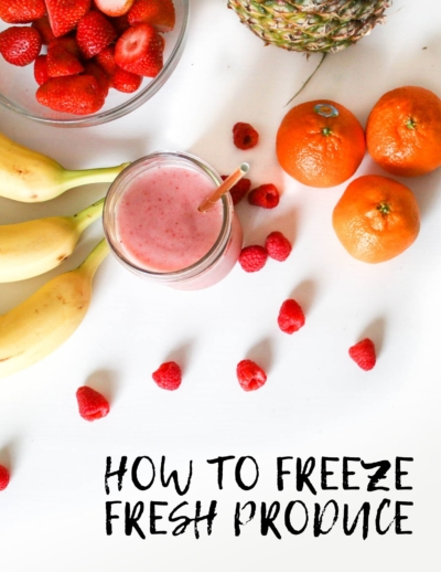 how to freeze fresh produce
