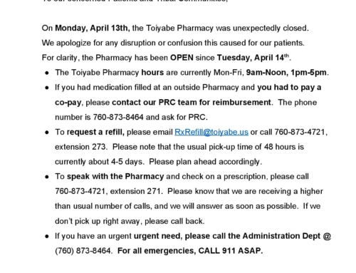 Pharmacy Update – 4/16/2020