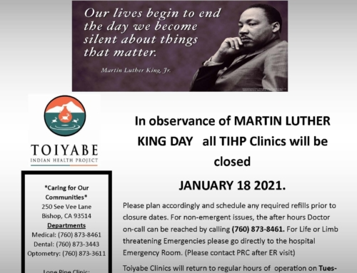 Martin Luther King Jr Holiday Clinic Closure