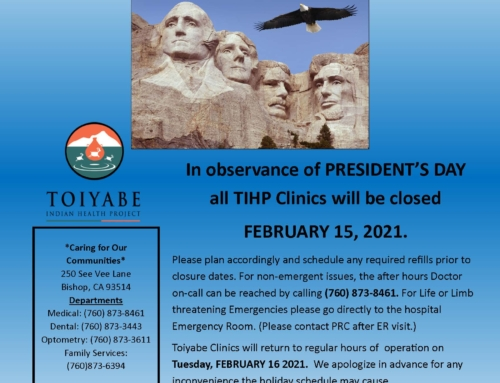 CLINIC CLOSURE PRESIDENTS DAY